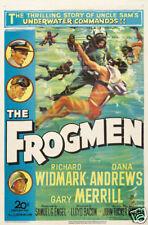 The frogmen 1951 Richard Widmark cult movie poster print