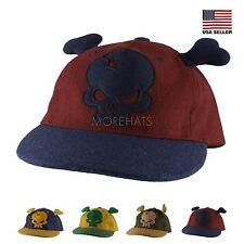Skull Bone Ear Hip-hop Era Trucker 100% Wool Snapback Flat Baseball Cap Hat Men