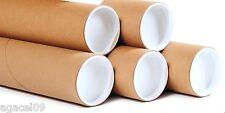 TUBI di Cartone Postale 1050mm x 50mm x 2mm con tappi in plastica