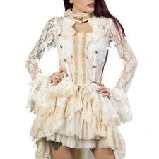Burleska Victorian Gothic Steampunk Jacke aus Spitze - Destiny Creme