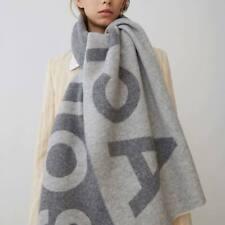 Women Winter Stylish Jacquard Acne Scarf Rectangular Warm Wool Blend Shawl