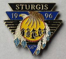 STURGIS SOUTH DAKOTA 1996 56th ANNIVERSARY ENAMEL VEST JACK HAT PIN