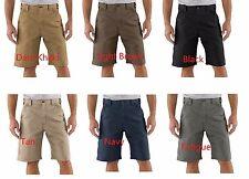 Carhartt Mens Canvas Work Short Khaki Brown Black tan Navy Fatigue Shorts