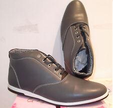 zapatos planos cordones tipo abotinados hombre color gris