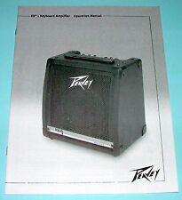 Operation Manual for a Peavey KB1 Amplifier: English, Espanol, Francais, Deutch