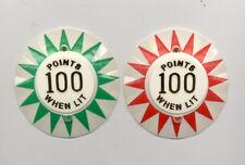 Bally KNOCKOUT Pinball Machine POP BUMPER CAP SET  NEW