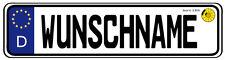 Namensschild im KFZ Kennzeichen Look +Pad versch.Größen V1