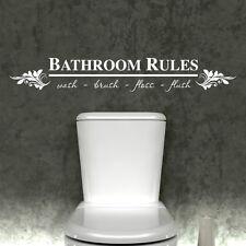 salle de bain règles Autocollant Mural Vinyle Art Décalque toilette citations