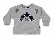 UBANG babblechat Sweater Sweatshirt  Longsleeve Racoon Waschbär grau  12 m  2Y