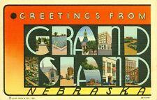 Grand Island,NE. A 1942 Big Letter Greeting from Grand Island