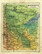 75 Minnesota 1906 Vintage historic antique map painting poster print