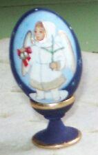 HANDPAINTED  wood egg  ANGEL