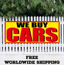 Banner Vinyl We Buy Cars Advertising Sign Flag Vehicles Buyer Dealership Trucks