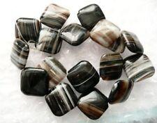 Ukcheapest-Negro Ágata Ónice Ágata Cuadrado 8 10 12 14 20 mm Piedras Preciosas Perlas Marrón