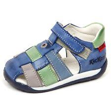 E6950 sandalo bimbo light blu/green KICKERS KYSON scarpe shoe baby boy