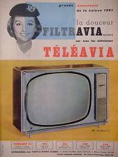 PUBLICITÉ 1960 FRIGEAVIA LA DOUCEUR FILTRAVIA TÉLÉAVIA SUR TOUS LES TÉLÉVISEURS