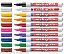 Edding 751 Lackmarker Lackmalstift Lackstift 1-2mm 10 Farben wählbar