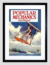 MAGAZINE POPULAR MECHANICS 1930 BATHING BEAUTY GLIDER FRAMED ART PRINT B12X10769