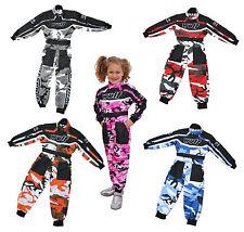 Enfants wulfsport course costume combinaison motocross karting jeunesse enfant pantalon camo
