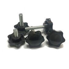 Plastic Black Rosette Thumb Screws M5 Knobs Bolt Star Knob Thumbscrews