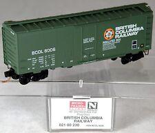 N Scale 40' Standard Box Car - British Columbia Railway #8006 - MTL #02100230