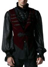 Gilet velour rosso con coda di pie staccabile Punk Rave y-539 Punk Rave