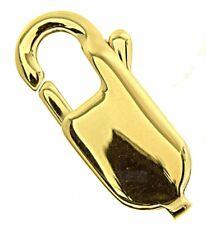Gioiello Moschettone piatto Forma Acciaio inox dorato 908809 diverse misure