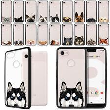 "For Google Pixel 3 Xl 6.3"" Animal Design Hybrid Hard Clear Case Bumper Cover"