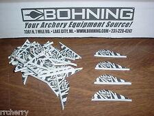 "Bohning Zebra 2"" Blazer Vanes, 100 Pack TIGER STRIPE WHITE Archery  Arrows"