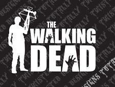 The walking dead vinyl car truck decal sticker Daryl Dixon crossbow walker hand