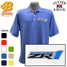 ZR1 Corvette Embroidered Men's Cutter & Buck Ace Polo Shirt BDZREP8023