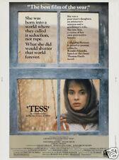 Tess Nastassia Kinski vintage movie poster