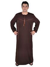 wunderschöner eleganter Herren Kaftan braun aus1001 Nacht in Omani Stil KAM00682