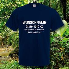 T-Shirt, Fun-Shirt, Dschungelcamp, inkl. Wunschname u. Nr., Dschungel