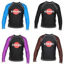 KANKU Long Sleeve Rash guard Black, Blue, Purple, Brown, BJJ, MMA, fitness