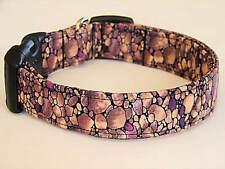 Charming Brown River Rock Dog Collar