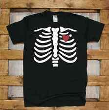 Maglia J407 Scheletro Happy halloween T-shirt