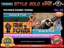 82 NEW SUPER STYLES Dance Funk & Blues Rock Technics KN3000 KN3500 EDITION 2017