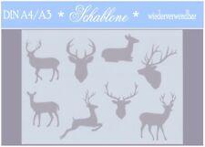 Schablone-INDIVIDUALISIERBAR- A4-A3-Weihnachten-Hirsch-Reh-7197