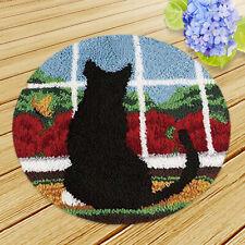 Cats Dogs Latch Hook Rug Kits DIY Ladybug Bear Cushion Carpet Making Kits