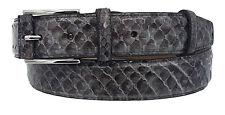Cintura 35 mm In Pitone lucido Con Fibbia semiricoperta colore Grigio