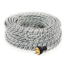 Diamond Ice Cordset - Cloth Covered Round Rewire Set - Antique Lamp & Fan Cord