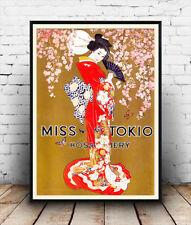 Miss Tokio  :  Vintage Women's Hosiery advert ,  Poster reproduction.