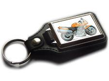 HONDA HORNET S Motorbike Koolart Leather and Chrome Keyring