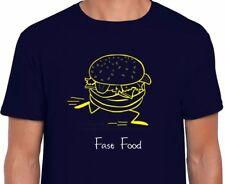 Fast FOOD Hamburger Novità T-Shirt Festa Divertente Cibo Regalo Scherzo Regalo di Natale