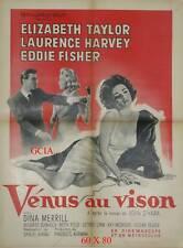 VENUS AU VISON - E.TAYLOR - L.HARVEY -D.MANN -1960 -MGM