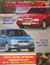 Quattroruote 448 1993 Corsa anti Uno Nuova 190Mercedes. Inserto Renault Safrane.