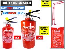 FIRE EXTINGUISHER DRY POWDER ABC 1KG / 2KG House Office Caravan Car Taxi NEW CE
