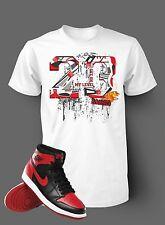 23 Get on My Level Tee Shirt to match Jordan 1 Banned Men White Short Sleeve T