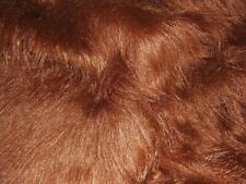 LONG Pile Fun Faux Fur Fabric Material - DARK BROWN MALT